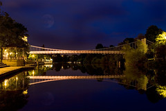 Bridge with moon reflection (tamilian / photo-capture.co.uk) Tags: uk england cheshire footbridge chester nightview sathish riverdee coch tamilian eow rnbwalesdee photocapturecouk