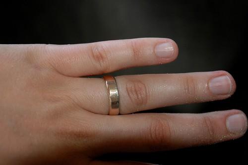 Heidi's ring and gold powder
