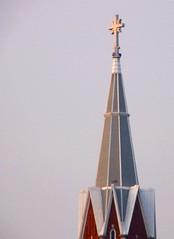 High In The Sky (Tiffibunny) Tags: church wisconsin catholic cross religion steeple wi algoma stmaryscatholicchurch