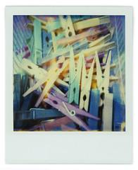 Clothespins (Cea tecea) Tags: polaroid sx70 778 expiredfilm