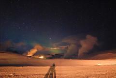 Jarðböðin aurora (didiervh) Tags: cold night iceland aurora northernlights auroraborealis poollicht noorderlicht
