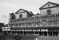 il Duomo di Ferrara: lateral facade (fedber) Tags: bw italy film facade ferrara duomo nikkor oldcity