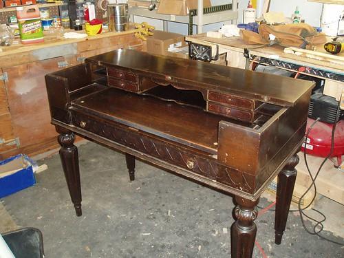 spinet desk - Antique Desk Refinish - By Safetyboy @ LumberJocks.com ~ Woodworking
