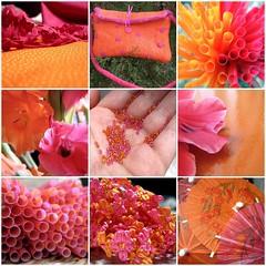 pink & orange mosaic
