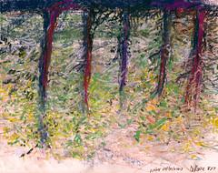 8.19.07pastelstudy (ruby door) Tags: trees water waterreflections woodsrubydoorsketchesstudies