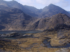 River running from Loch Coruisk (C@lumMore) Tags: mountain lake black mountains skye river scotland highlands rocks photos hill rocky scottish hills more loch isle calum cullins cuillin elgol coruisk coruisck coruisc