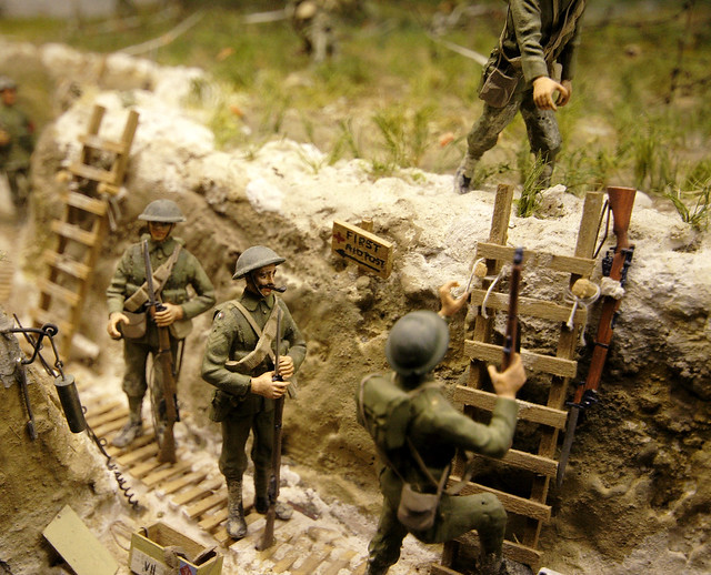 World War One trench model - Imperial War Museum, London