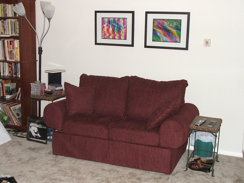 finished loveseat in context