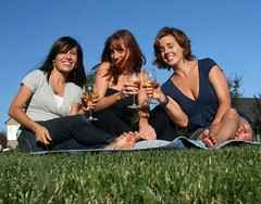 Winetasting on the grass