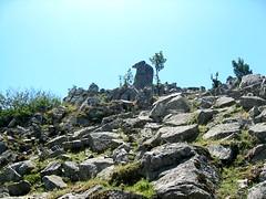 Forme rocheuse de la crête des bergeries sans nom