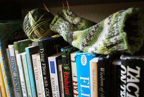 My husband knits