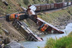 Thermopolis Train Derailment May 12, 2010 (gebodogs) Tags: railroad santafe train accident boulder disaster wyoming trainengine emergency hazardous engineer bnsf materials hazmat derailed rockslide trainwreck bentonite derailment burlingtonnorthern 425 thermopolis windrivercanyon bighornriver dieselfuel hotspringscounty railroacktracks taltotw