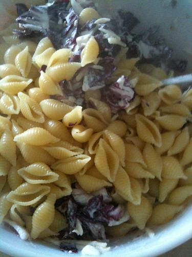 4 Cheeses, Radicchio, Sage, Shitake Mix, and Partially cooked pasta