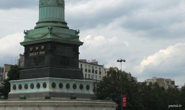 Socle de la colonne de Juillet à Bastille