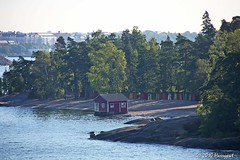 small barns (harrypwt) Tags: autumn reflection helsinki coastal 1454 e520 harrypwt