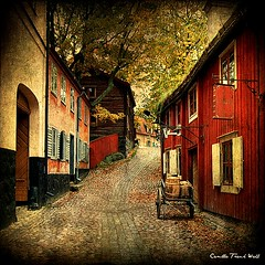 An Old Alley (Milla's Place) Tags: sweden stockholm textures skansen djurgården skeletalmess magicunicornverybest magicunicornmasterpiece kerstinfrank inspiredchoice truthandillusion