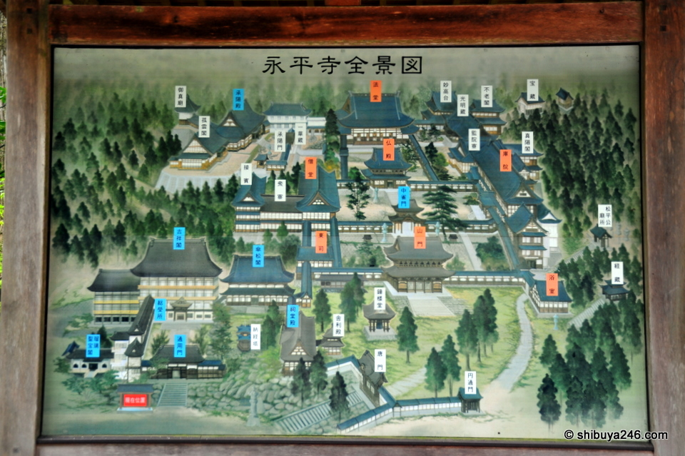 Map of the temple grounds