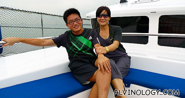 My cousin, Jun Jie and my aunt Catherine
