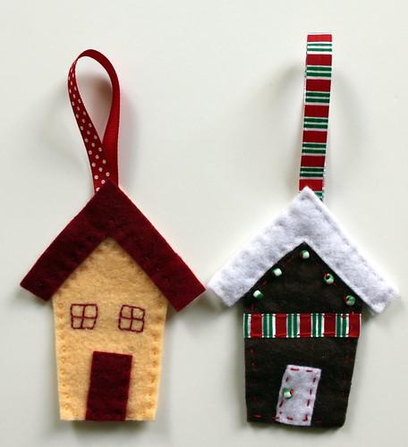 Felt Christmas houses