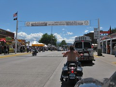 70th Annual Motorcycle Rally (Travis S.) Tags: road street shirtless sign southdakota south rally banner bikes motorcycle biker welcome sturgis motorcyclerally 70thannual 70thannualsturgismotorcyclerally