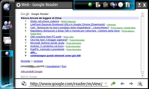 Google Reader Mobile screenshot