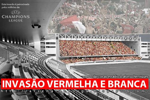 Invasão vermelha e branca ©arsenal de Braga