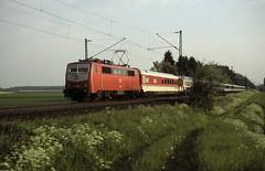 111 056  bei Ulm  17.05.87 (w. + h. brutzer) Tags: analog train germany deutschland nikon eisenbahn railway zug trains db 111 locomotive ulm lokomotive elok eisenbahnen eloks webru
