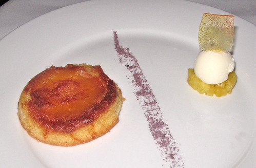 Pineapple Upside-Down Cake with Mascarpone Ice Cream