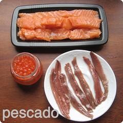 El pescado para el sushi