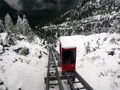 Minifunicular Parc d'Attractions du Châtelard VS SA (wimbledonian) Tags: snow train switzerland du parc barrage funicular emosson dattractions châtelard