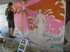P1010017 (Kurt Christensen) Tags: art beach painting mural surfer gilgobeach gilgo