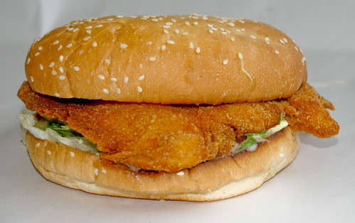 Chicken Schnitzel Burger at Metzis Tasty Takeaway