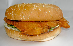 Chicken Schnitzel Burger at Metzis Tasty Takeaway (Vanessa Pike-Russell) Tags: food chicken bestof tasty australia hamburger nsw mostinteresting takeaway portfolio popular schnitzel 2007 wollongong myfaves illawarra lakeillawarra shellharbour pc2528 mountwarrigal metzis