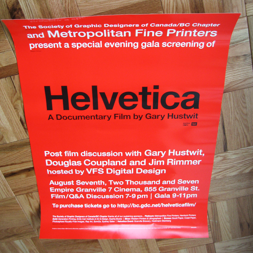Helvetica Vancouver Poster