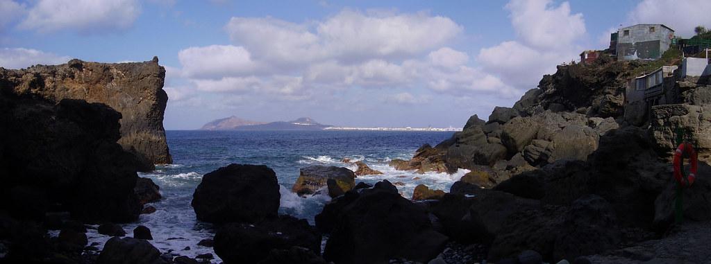 Las Palmas de Gran Canaria desde playa de Punta de Arucas