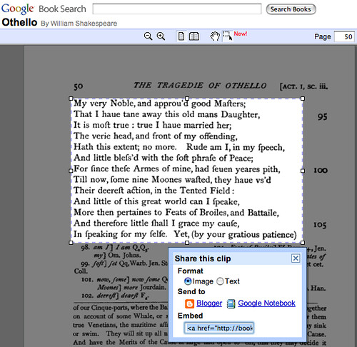 Google Book Search Embed Passage