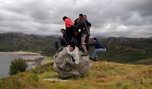 La roca sobre la bahía de Gruinard. Por Escocia (8)