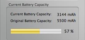 Mi batería antes del reemplazo