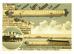 postcard - Bodensee Zeppelin (Jassy-50) Tags: art germany artwork drawing postcard zeppelin transportation airship bodensee dirigible oldprint lakeconstance vintagereprint