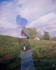 hillside (nardell) Tags: sky film clouds de outside holga spring doubleexposure hill trails floating scanned inside tess delaware hillside drifting brandywine sooc tessj