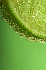A slice of lime (simon.anderson) Tags: macro green fruit flesh drink sweet acid flash bubbles gas f22 citrus lime carbon peel refreshing fizzy limeade sigma105mm simonanderson carbonatedsoda asliceoflime nikond300s elementalflash