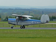 G-AKVF (QSY on-route) Tags: kemble egbp gvfwe greatvintageflyingweekend gakvf 09052010
