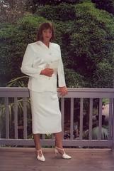 Suit 15a (Melissa451) Tags: cd melissa crossdresser whitesuit skirtsuit satinsuit