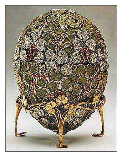 009-Huevo hoja de trebol 1903-Faberge
