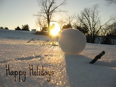 greeting card idea 2010 (Dreams in Fiber) Tags: winter sunset ice snowball wintermadness digitalcameraclub ilovemypic