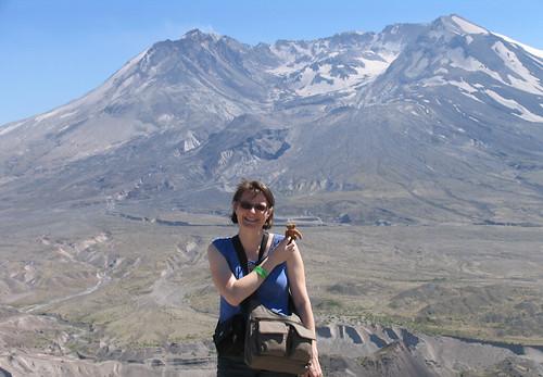 Liz & BB at Mt St Helens