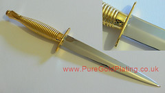 Gold and Nickel Plated Knife (PureGoldPlating) Tags: goldplating goldplatedknife fairbairnandsykes