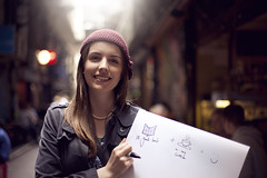 12/30 (Brendan_Timmons) Tags: street city friends light portrait smile wonderful tea bokeh burgundy melbourne books pearls knitted beanie soylatte canon50mmf14 whatmakesyouhappy canon5dmkii