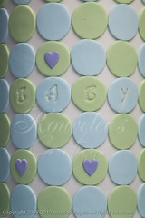 Baby Love (Rouvelee's Creations) Tags: baby love cake heart stripes polymerclay babyshower stork chocolatemudcake rouvelee