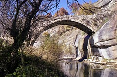 Svoliani stone bridge (dkilim) Tags: bridge stone nikon fuji mount greece macedonia reala fm2 agia sotira   voio      svoliani